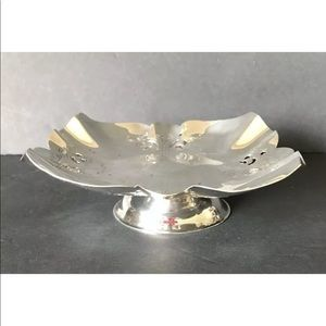 Vintage Coronet Silver Plated Small Fruit Tray